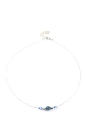Pees Halskette blau-silberfarben Elegant