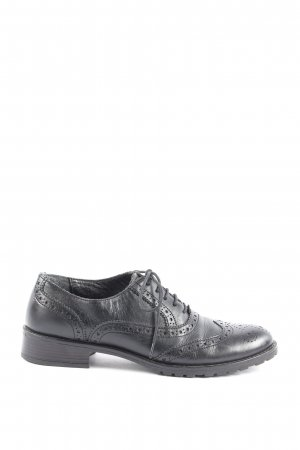 Pelle moda Wingtip Shoes black business style