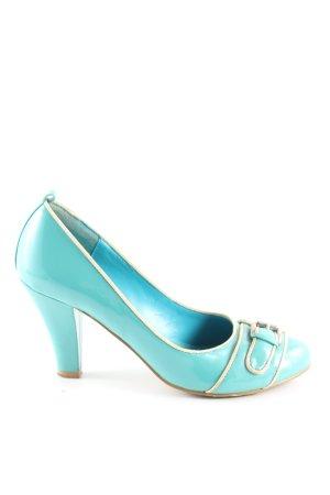 peluso High Heels türkis-creme Elegant