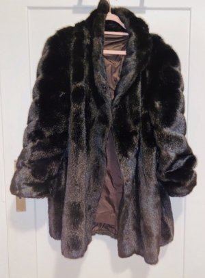 Canda Pelt Coat black-brown