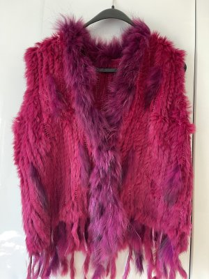 Fur Jacket raspberry-red-magenta