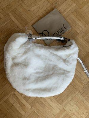 Made in Italy Sac seau blanc fourrure