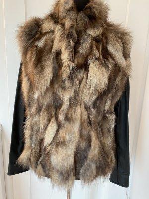 Amor&Grace Fur Jacket beige-black pelt