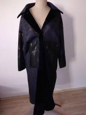 sylvie schimmel Paris Manteau de fourrure noir-bleu foncé
