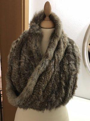 Bufanda tubo marrón grisáceo-marrón-negro