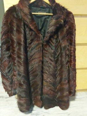 Pelt Coat dark brown-blackberry-red