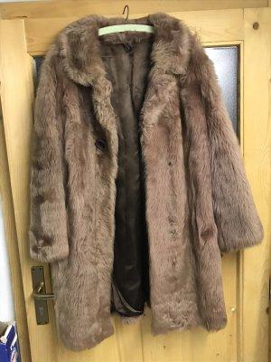 Manteau de fourrure chameau-marron clair