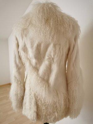 Veste de fourrure blanc