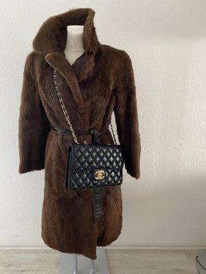 Vintage Diva Futrzany płaszcz Wielokolorowy