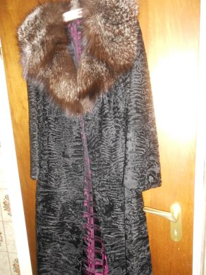 Pelz Mantel Persianer elegant mit großem Kragen