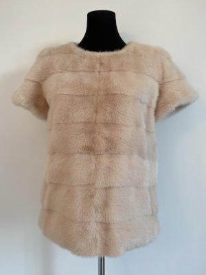 Sly 010 Sweater met korte mouwen rosé Bont