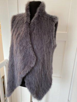 Sly 010 Fur vest grey violet pelt