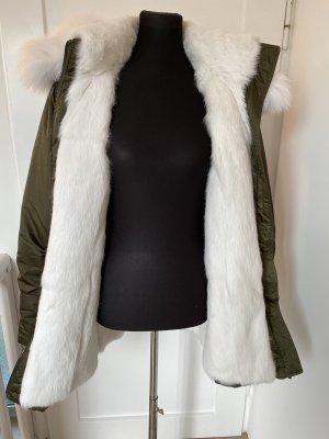 Amor&Grace Parka khaki-white pelt