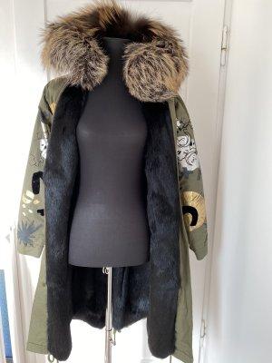 Amor&Grace Parka khaki-black pelt