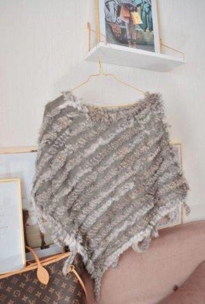 Pelt Coat silver-colored-light grey