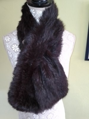 Manteau de fourrure noir mohair