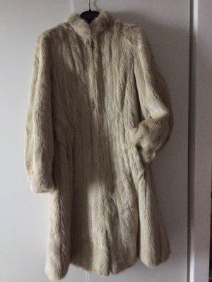 LISKA Abrigo de piel crema-blanco