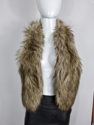 American Eagle Outfitters Gilet en fourrure marron clair modal