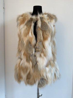 Amor&Grace Fur vest cream-oatmeal pelt