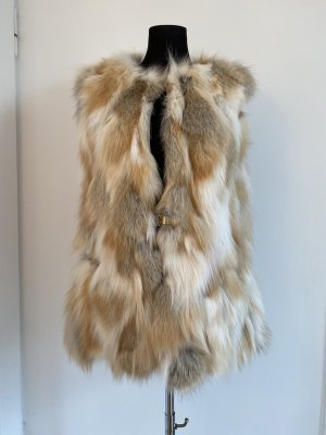 Fur vest cream-oatmeal pelt