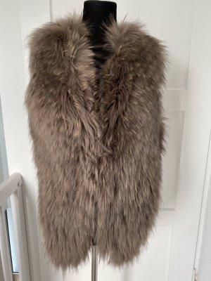 Fur vest beige-light brown pelt