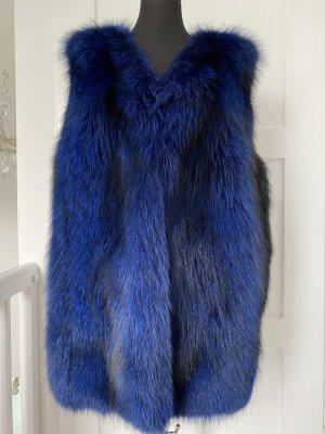 Fur vest blue-black pelt