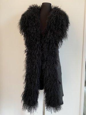 Fur vest black pelt