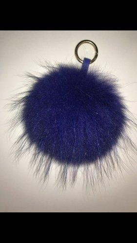 Pelzbommel blau 22cm