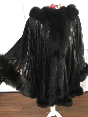Pelzcape schwarz