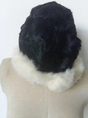 Fur Hat black-white pelt