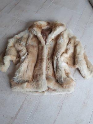 Giacca in pelliccia sabbia-beige chiaro