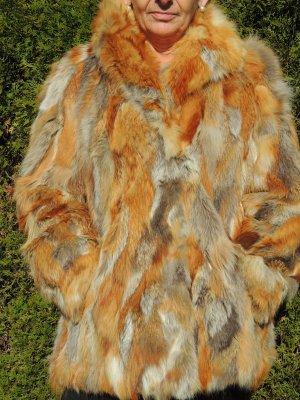 Chaqueta de piel color plata-naranja claro Pelaje