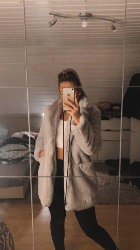 unbekannte Manteau de fourrure argenté