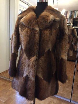 Manteau de fourrure multicolore