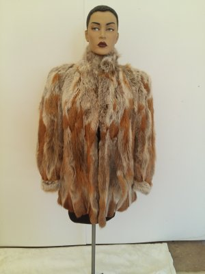 Fur Jacket cognac-coloured