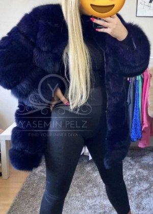 SAGA FURS Futrzana kurtka ciemnoniebieski-czarny
