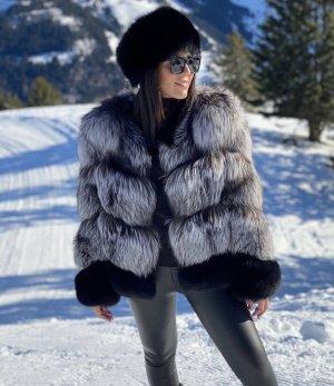 Pelt Jacket silver-colored-black