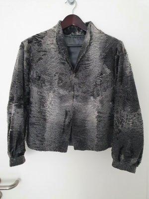 andere Marke Giacca in pelliccia argento-grigio