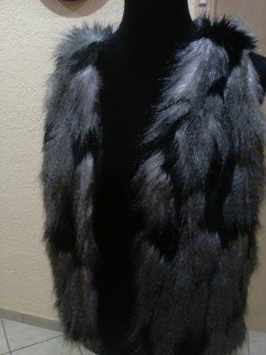 Pimkie Veste de fourrure noir-gris