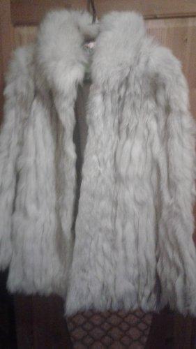 SAGA FURS Giacca in pelliccia grigio chiaro-bianco sporco