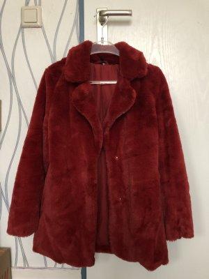 H&M Giacca in pelliccia rosso