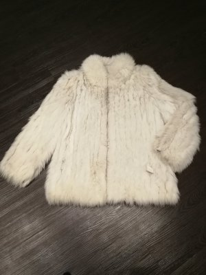 Saga Fox Pelt Jacket silver-colored