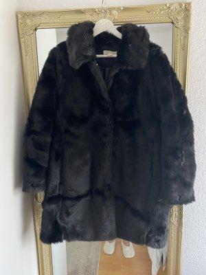 H&M Manteau en fausse fourrure noir