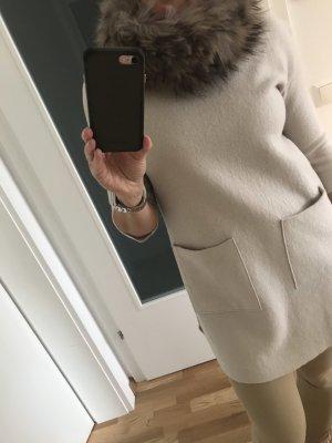 Caperuza marrón grisáceo-gris
