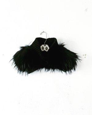 Vintage Bufanda de punto negro