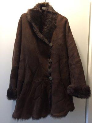 sylvie schimmel Paris Abrigo de piel marrón oscuro