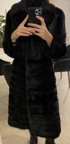 Kürschner Abrigo de piel negro-marrón-negro Pelaje