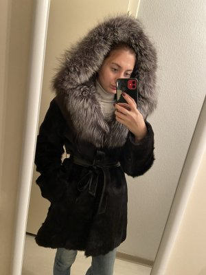 Giacca in pelliccia nero