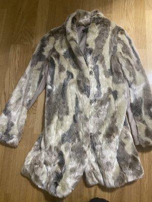 Comma Manteau de fourrure multicolore