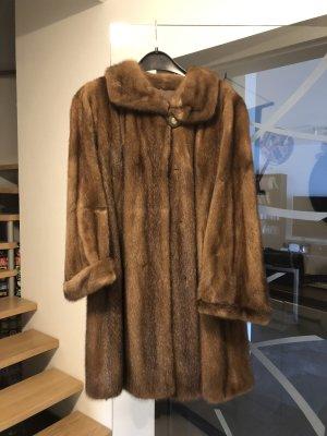 Saga Mink Futrzany płaszcz Wielokolorowy Futro